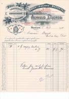 Romans - Drôme -Facture - Soies - Cocons - Déchets - Cerneaux Noix De Grenoble - Achille Ducros - 1914 - Textile & Vestimentaire
