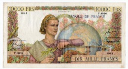 Très Beau Billet De 10000 Frncs Type Génie Francais Daté Du 3.3.1955. - 1871-1952 Anciens Francs Circulés Au XXème