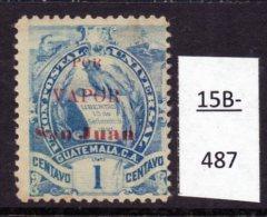 "Guatemala : The ""Ship Overprints"" - Unofficial On Definitive With Train Design Of 1886 : 1c POR VAPOR San Juan - Trains"