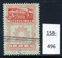 Hungary : 1934 Steam Locomotive Revenue 20f Used, Not Often Seen. - Trains