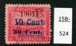 Nicaragua - Bluefields (Zelaya) Telegraph 10c/30c/6c Train Volcano Momotombo  Used (1) - Trains