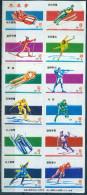 12er Zündholzetikettenserie Druckbogen Aus China Mit Wintersportmotive #1 - Boites D'allumettes - Etiquettes