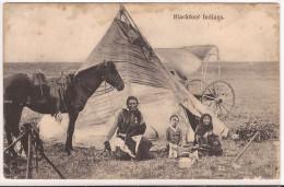 BLACKFOOT INDIANS STAMPED 1907 Re  665 Condition ! - Indiens De L'Amerique Du Nord