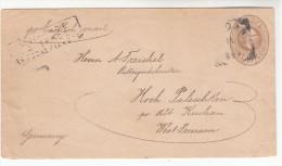 Brief-Kuvert, Ganzsache, Aus Ned. Indien, Nach Alt-Kischau Oder Kischan, Unten Geöffnet, 1894 - Ohne Zuordnung