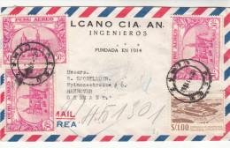 Brief-Kuvert, Lima Nach Hannover Adressiert, Peru-Beleg, Luftpost, 1952 - Peru