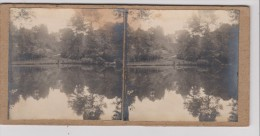 Vues Stéréoscopiques Photo Sur Carton - Etang De Montcornet (A Confirmer) - Stereoscopic