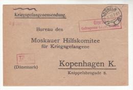 Brief-Kuvert, Lager Döbeln An Das Moskauer Hilfskomitee Für Kriegsgefangene In Kopenhagen, Zensur, 1916 - Deutschland