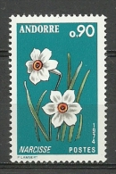 EUROPA- ANDORRA CORREO FRANCES SELLO VARIEDAD LA E DE NARCISSEROTA  (K.5.C.11.15) - French Andorra