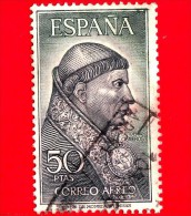 SPAGNA - Usato - 1963 - Cardinale Francisco Jiménez De Cisneros, Francescano (O.F.M.) (1436-1517) - 50 P. Aerea - Usati