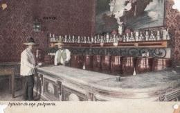 1908 Vintage Postcard (Undivided Back), Interior De Una Pulqueria, Mexico (ref.# 3015se) - Mexique