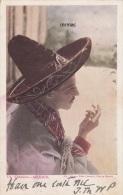 1907 Vintage Postcard (Undivided Back), Un Caballero (Man Smoking) - Mexico (ref.# 3046se) - Mexique