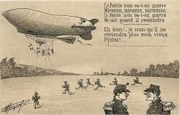 Militaires Militaria - Ref D517-humour -dessin Illustrateur -dirigeable Le Patrie - Theme Aviation -dirigeables - - Airships