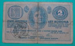 RARE *CITA DI FIUME* ITALIA YUGOSLAVIA 2 KRONEN  ND 1918 (OLD DATE 1914), GOOD QUALITY, PICK - S103a, ORIGINAL SEAL TYPE - Unclassified