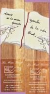 Marque-page °° La Main Gauche - Adroit Main Gauche . Gauche Main Droite - 5 X 19 - Marque-Pages
