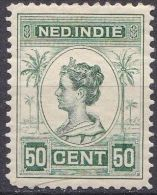 Ned. Indië: 1913-31 Koningin Wilhelmina 50 Cent Groen NVPH 129 A Ongestempeld - Indes Néerlandaises