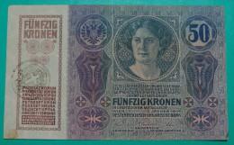 RARE *CITA DI FIUME* ITALIA YUGOSLAVIA 50 KRONEN  ND 1918 (OLD DATE 1914), HIGH QUALITY, PICK - S113a, ORIGINAL SEAL - Unclassified