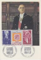 Carte  Maximum  1er  Jour  ANDORRE   Triptyque   CHARLES   DE   GAULLE     1972 - De Gaulle (Général)
