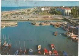 G3406 Riccione (Rimini) - Porto Canale E Panorama Con La Spiaggia - Barche Boats Bateaux / Viaggiata 1959 - Italie