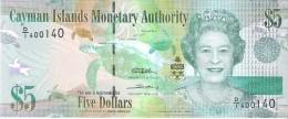 Cayman Islands - Pick 39a  - 5 Dollars 2010 - Unc