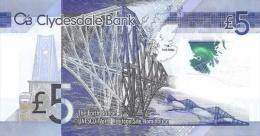 SCOTLAND P. 369 5 P 2015 UNC - 5 Pounds