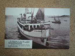 Carte Postale Ancienne Naufrage Du Vapeur D'excursion St Philibert Pornic-Noirmoutier 1931 - Pornic