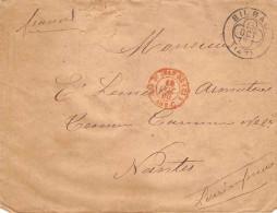 BILBAO 1880 - Cachet  +cachet  Saint Jean De Luz AMB C - Marcofilia - EMA ( Maquina De Huellas A Franquear)