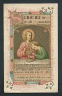 Souvenir De Première Communion De Mytha Deurer. Jette St-Pierre 1888. Litho St. Augustin. Scan Recto/verso - Images Religieuses