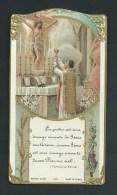 Le Prêtre Est Une Image Vivante De Jésus... Très Belle Image Gaufrée, Dorée.  Bouasse Jeune, 1457. - Images Religieuses