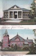 Maine Saco Thornton Library & Thornton Acaemy 1908