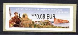 FRANCE - 2015 - VIGNETTE LISA - SALON PHILATELIQUE D´AUTOMNE - Motif Jacques Cartier - 0.68 Euro - Lettre Verte - - 2010-... Vignettes Illustrées