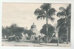 OLD Postcard RIO De JANEIRO Praca 15  De  Novembro STREET SCENE, CARS, PEOPLE  Brazil - Rio De Janeiro