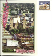 BOLIVIA  SANTA CRUZ  San Francisco  Nice Stamp - Bolivia