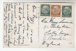 1938  GERMANY Stamps COVER  (postcard KOLN ) - Alemania