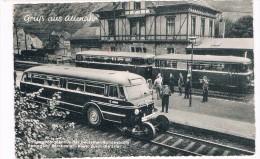 D5558   ALTENAHR : Bahnhof  Und Schienen-strassenbus Der Deutschen Bundesbahn ( Bus, Train) - Bad Neuenahr-Ahrweiler