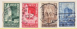BELGIUM  258-61    (o)   BRUXELLES  EXPO. - Used Stamps