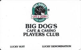 Blank Big Dog's Cafe & Casino Players Club Card - Las Vegas, NV   .....[RSC]..... - Casino Cards