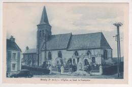 RENTY 62 PAS DE CALAIS - L EGLISE ET LE PRESBYTERE - EDITION FAYOLLE - COULEUR BLEU - VOIR LE SCANNER - Autres Communes