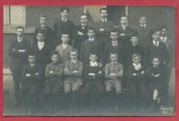 Braine-le-Comte - Groupe D'étudiants Et Professeur - Carte Photo - 1913 ( Voir Verso ) - Braine-le-Comte