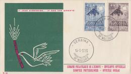 Enveloppe 1er   Jour  BELGIQUE   Paire  EUROPA   SERAING    1957 - Europa-CEPT