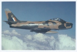 Carte Postale Couleur, Herman Potgieter, Avion, North American, Canadair F-86 Sabre 6 Serial 383 Of 1 Squadron, South... - 1946-....: Modern Era