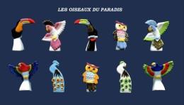 SERIE DE FEVES COMPLETES LES OISEAU DE FEU     2016 - Animals