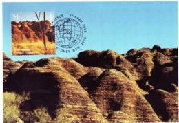 Australia 2005 World Heritage $1 Purnululu National Park, WA Maximum Card - Cartas Máxima