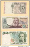 1000 + 2000 + 5000 Lire Repubblica Italiana - Non Classificati