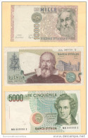 1000 + 2000 + 5000 Lire Repubblica Italiana - [ 2] 1946-… : Républic