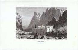 1870 - Gravure Sur Bois - Egypte - El-Tor - Le Mont Sinaï - FRANCO DE PORT - Estampes & Gravures
