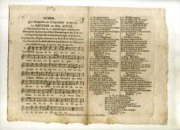 - FRANCE XVIIIe S. RHYMNE QUI TERMINE LE 5e ACTE DE LA REUNION DU 10 AOÜT OU L´INAUGURATION DE LA REPUBLIQUE FRANCAISE . - Partitions Musicales Anciennes
