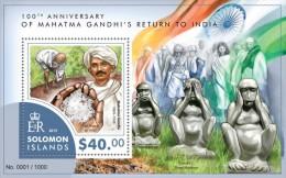 Solomon Islands. 2015 Mahatma Gandhi. (420b) - Mahatma Gandhi