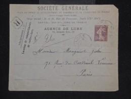 FRANCE - Type Semeuse Sur Enveloppe En 1917 -  A Voir - Lot P12173 - 1877-1920: Période Semi Moderne