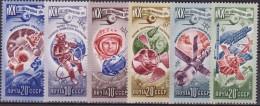 RUSSIA URSS SPAZIO SPACE 5V.  MNH - Europe