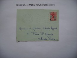 Enveloppe  Timbre   0.25  Francais   1960 - Used Stamps